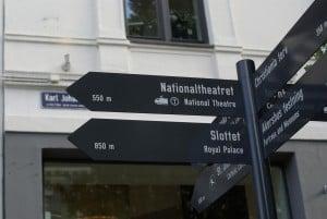 Wegweiser Oslo keine Angst vor dem Verlaufen