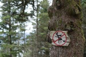 Keine fliegende Hexen erlaubt Bergen