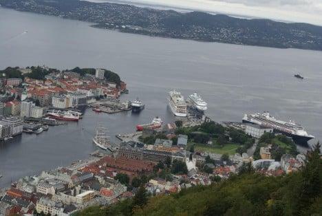 Aussicht auf Bergen in Norwegen