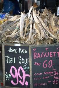Stockfisch Fischmarkt Bergen