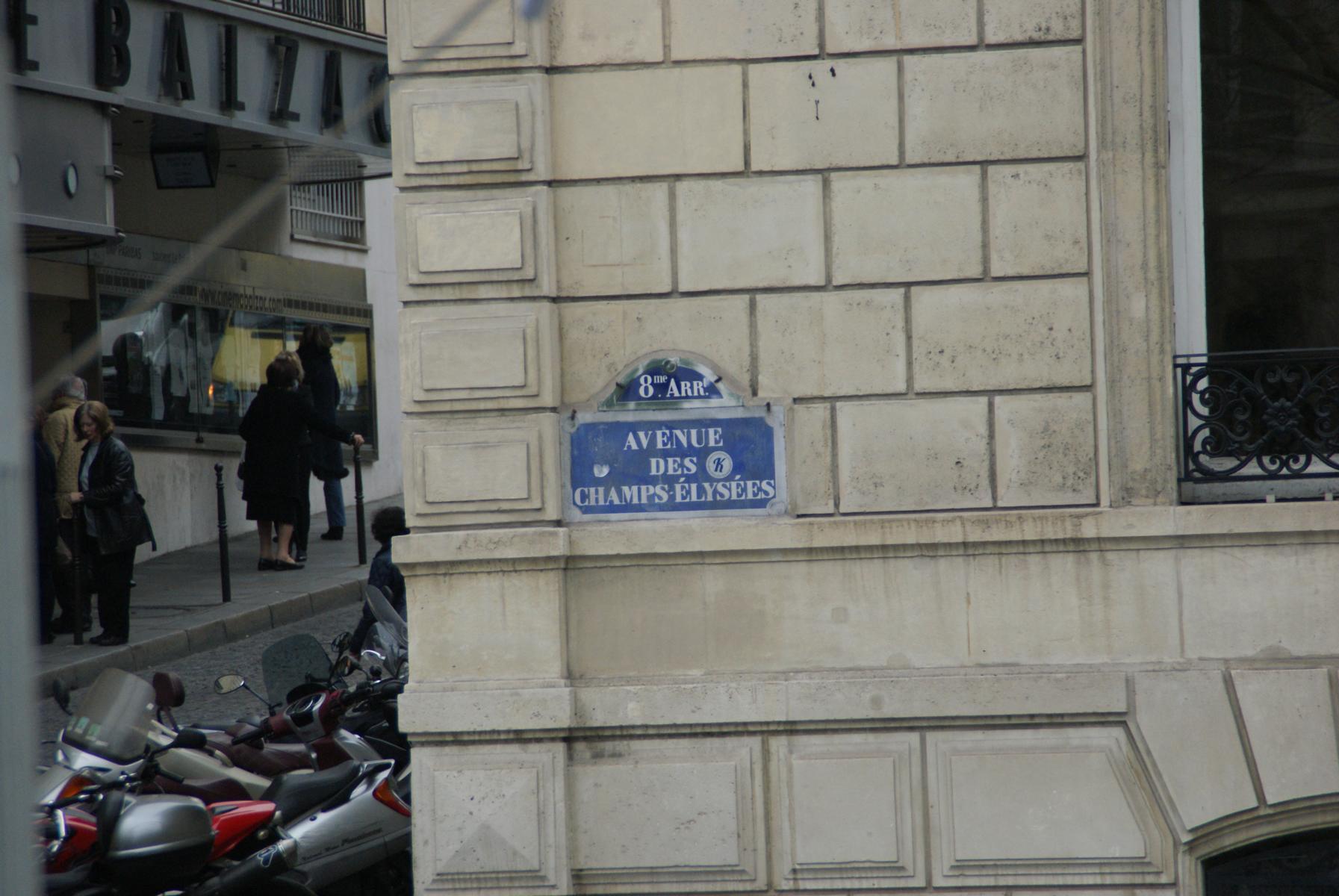 Avenue des champs élyssées Paris