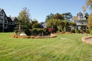 Gepflegte Gärten mit hübschen Häusern Shore Path
