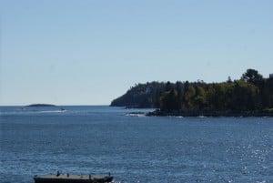 Vorgelagerte Insel Whale Watching