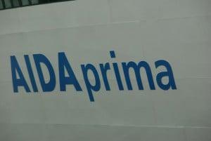 AIDAprima Logo Schiff außen
