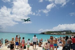 Maho Beach Sint Maarten Delta Air