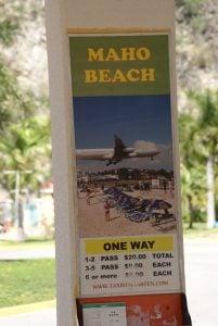 Taxi zu Maho Beach Sint Maarten