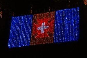 Portugiesische Flagge, Weihnachten Funchal Madeira