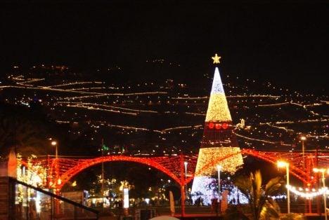 Funchal an Weihnachten