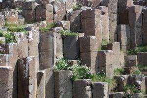 Perfekte sechseckige Säulen Giants Causeway