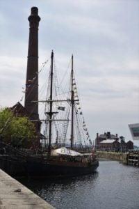 Albert Dock Liverpool Segelschiff