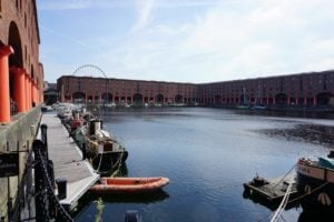 Albert Dock Liverpool Fluss Gebäude