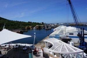 Hafen von Portland Anlegestelle AIDA Aussicht