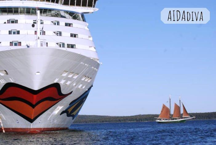 AIDAdiva Kreuzfahrtschiff Reiseberichte auf eigene Faust