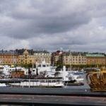 Skeppsholm Brücke mit Blick auf Östermalm