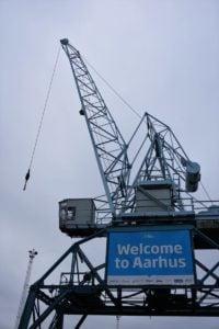 Willkomen im Aarhuser Hafen
